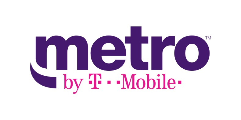 Logo for Metro by T-Mobile written in purple and pink lettering.