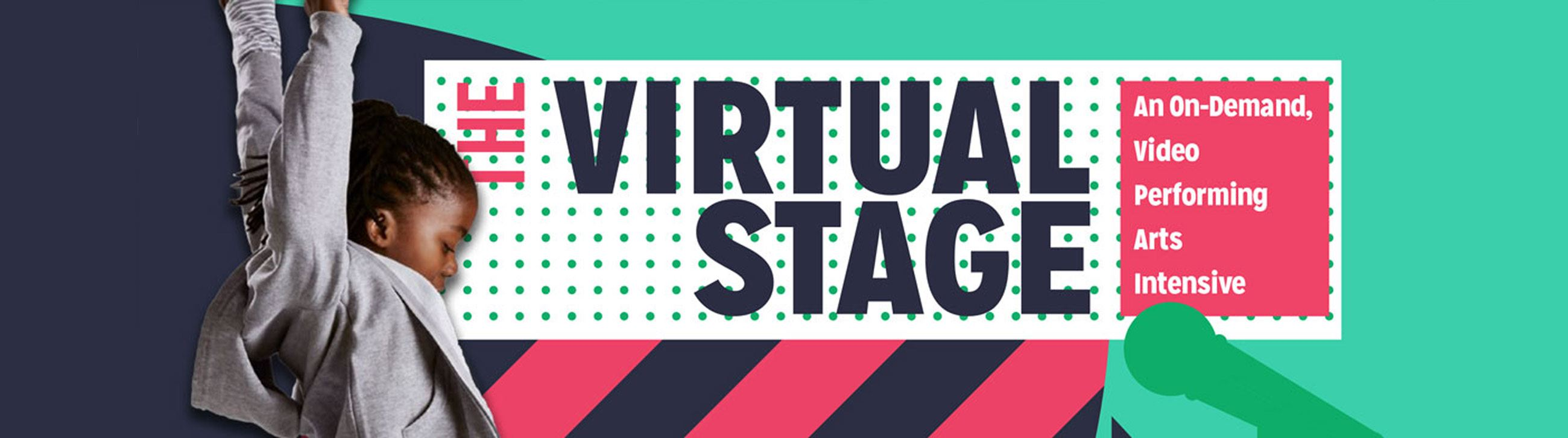 virtual stage geometric banner